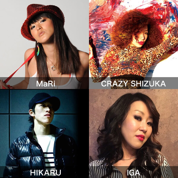 NOA DANCE CONNECT Vol.9募集ナンバーにMaRi、CRAZY SHIZUKA、HIKARU、IGAが追加になりました!