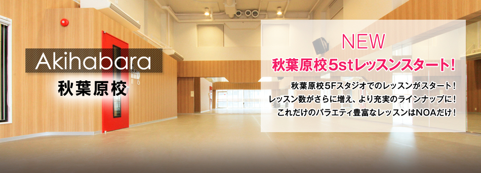 NOAダンスアカデミー秋葉原校のレッスンスケジュール